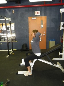 Tricep extension ending position