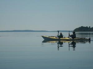 Kayaking near St. Andrews, New Brunswick