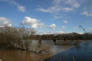 Railroad bridge at Lewisburg 2013.  by Janet Rider