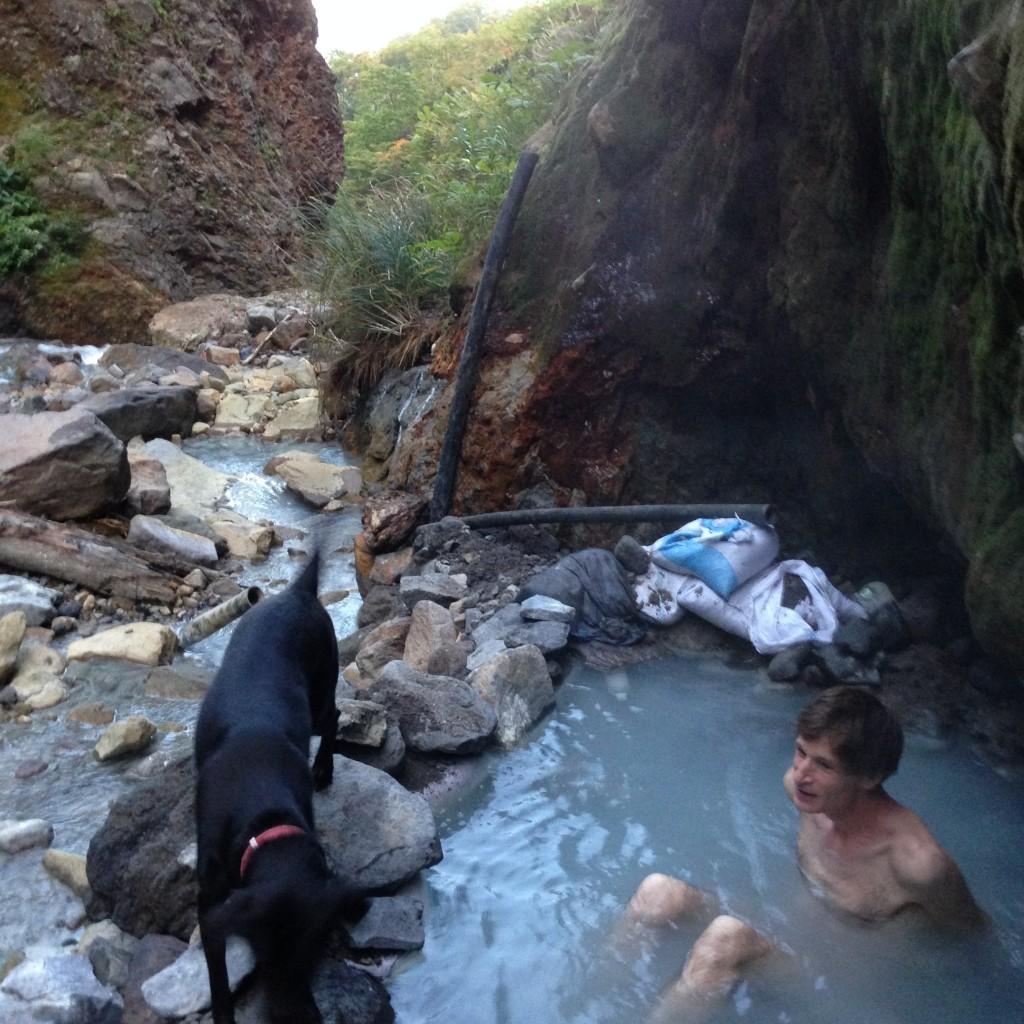 Japanese hidden private onsen hot spring