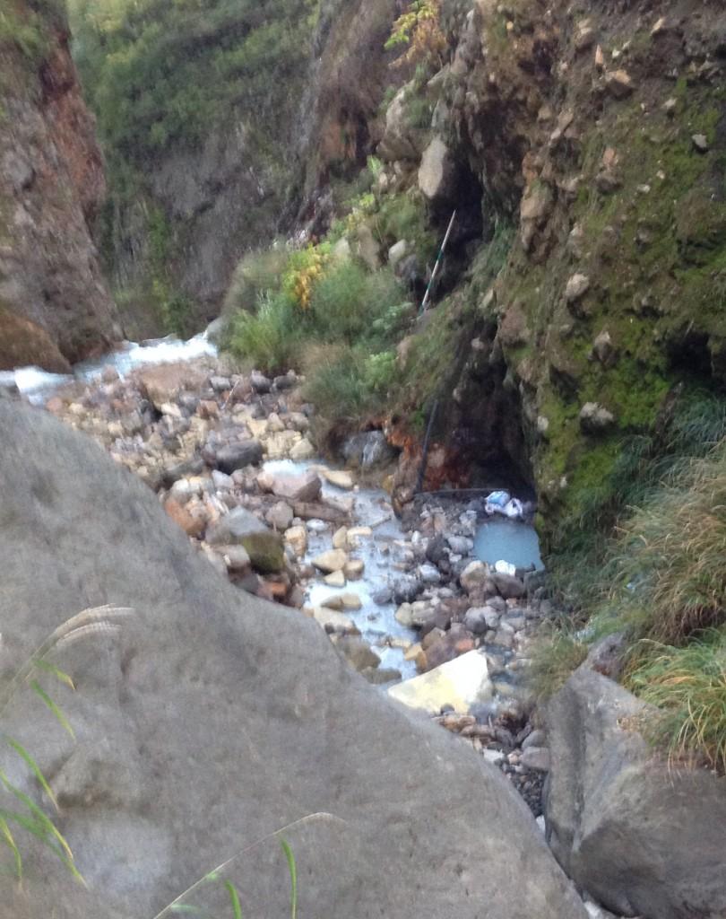 Japanese onsen hidden wild hot spring