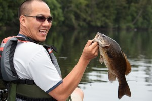 """We had just put the canoe in the water, and on Viet's second cast he landed this great bass. We were stoked, thinking the fishing during the weekend was gonna be incredible. Turns out, it was not."""