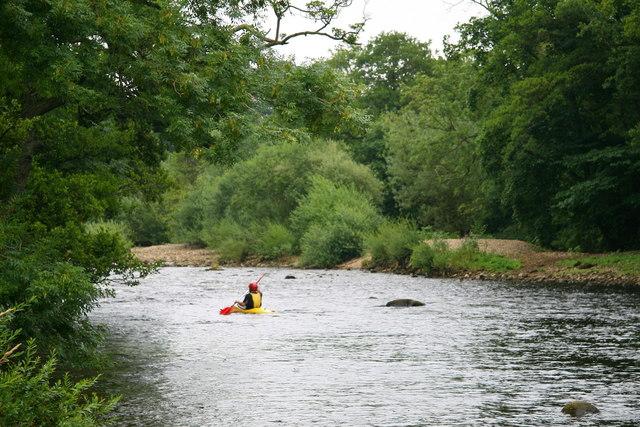 Canoe on River Ure