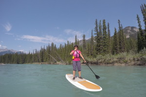 SUP Touring on the Bow River from the canoe docks in town